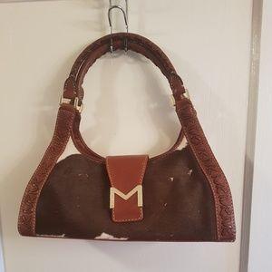Michael Kors Brown/White Moo Hand Bag